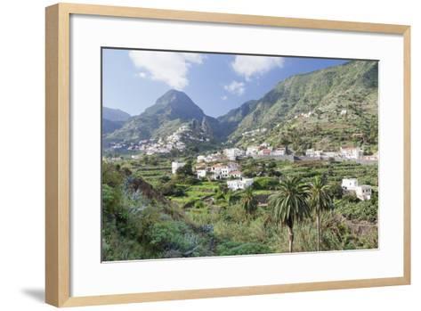 Hermigua, Roques De San Pedro Rock, Terraecd Fields, La Gomera, Canary Islands, Spain, Europe-Markus Lange-Framed Art Print