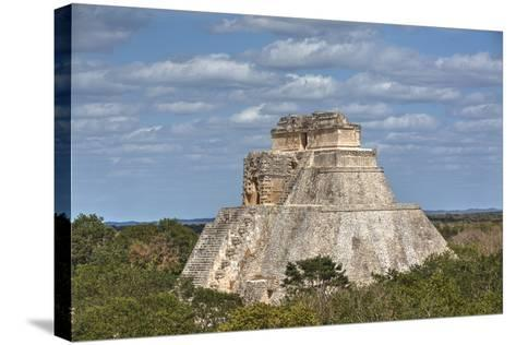 Pyramid of the Magician, Uxmal, Mayan Archaeological Site, Yucatan, Mexico, North America-Richard Maschmeyer-Stretched Canvas Print