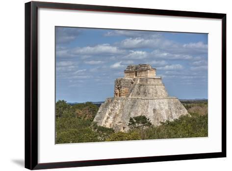 Pyramid of the Magician, Uxmal, Mayan Archaeological Site, Yucatan, Mexico, North America-Richard Maschmeyer-Framed Art Print