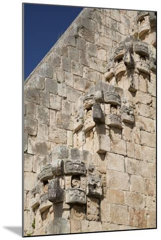 Chac Rain God Stone Masks, Pyramid of the Magician, Uxmal-Richard Maschmeyer-Mounted Photographic Print