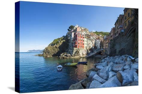 Clifftop Village of Riomaggiore, Cinque Terre, UNESCO World Heritage Site, Liguria, Italy, Europe-Gavin Hellier-Stretched Canvas Print