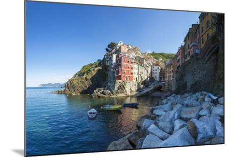 Clifftop Village of Riomaggiore, Cinque Terre, UNESCO World Heritage Site, Liguria, Italy, Europe-Gavin Hellier-Mounted Photographic Print