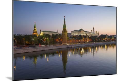 Kremlin Churches and Towers from Moscow River Bridge, Moscow, Russia-Gavin Hellier-Mounted Photographic Print