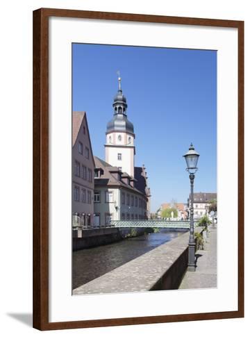 River Alb and Town Hall, Ettlingen, Baden-Wurttemberg, Germany-Markus Lange-Framed Art Print