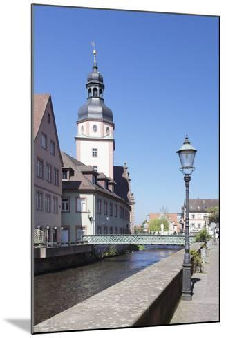 River Alb and Town Hall, Ettlingen, Baden-Wurttemberg, Germany-Markus Lange-Mounted Photographic Print