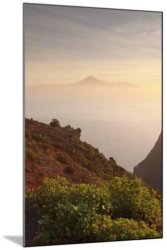 View from Gomera to Tenerife with Teide Volcano at Sunrise, Canary Islands, Spain, Atlantic, Europe-Markus Lange-Mounted Photographic Print