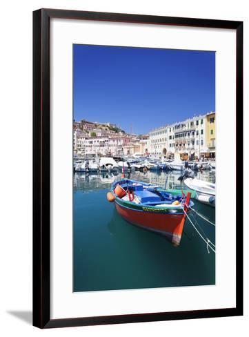 Harbour with Fishing Boats, Portoferraio, Island of Elba-Markus Lange-Framed Art Print