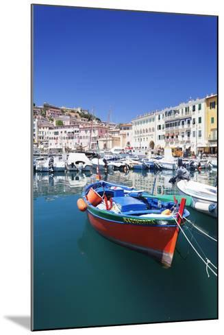 Harbour with Fishing Boats, Portoferraio, Island of Elba-Markus Lange-Mounted Photographic Print