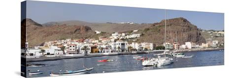 Fishing Boats at the Harbour, Playa De Santiago, La Gomera, Canary Islands, Spain, Atlantic, Europe-Markus Lange-Stretched Canvas Print