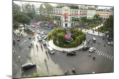 Traffic Intersection Nguyen Hue Boulevard and Le Loi Boulevard, Ho Chi Minh City (Saigon), Vietnam-Yadid Levy-Mounted Photographic Print