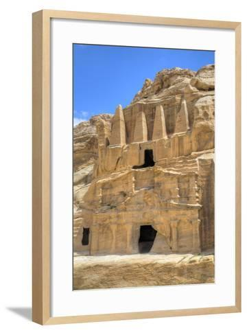 Obelisk Tomb (Upper Structure), Bab As-Sig Triclinium (Lower Structure), Petra, Jordan, Middle East-Richard Maschmeyer-Framed Art Print