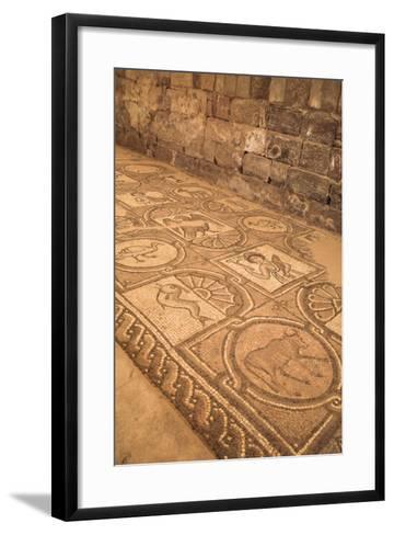 Floor Mosaics, Petra Church (Byzantine Church), Built Between the 5th and 7th Centuries Ad-Richard Maschmeyer-Framed Art Print