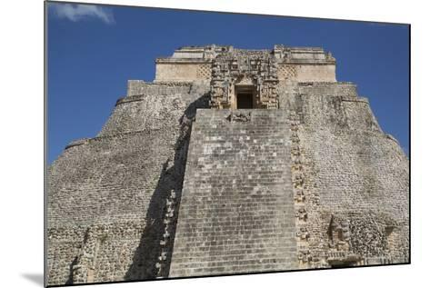 Pyramid of the Magician, Uxmal, Mayan Archaeological Site, Yucatan, Mexico, North America-Richard Maschmeyer-Mounted Photographic Print