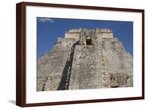 Pyramid of the Magician, Uxmal, Mayan Archaeological Site, Yucatan, Mexico, North America-Richard Maschmeyer-Framed Art Print