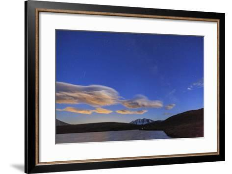 Pink Clouds after Sunset on Rossett Lake at an Altitude of 2709 Meters-Roberto Moiola-Framed Art Print