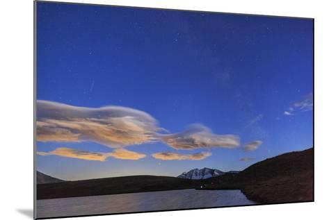 Pink Clouds after Sunset on Rossett Lake at an Altitude of 2709 Meters-Roberto Moiola-Mounted Photographic Print