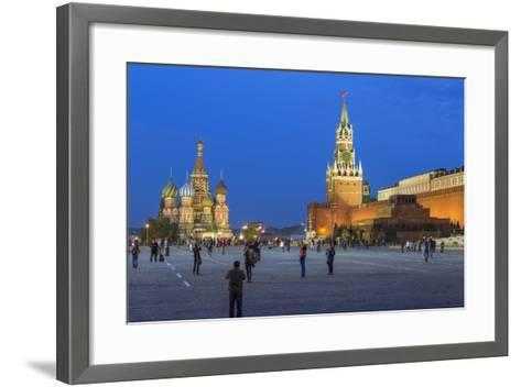 St. Basils Cathedral and the Kremlin in Red Square, Moscow, Russia-Gavin Hellier-Framed Art Print