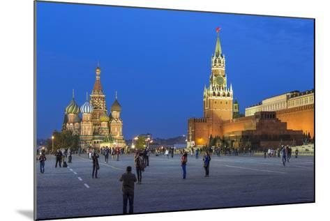 St. Basils Cathedral and the Kremlin in Red Square, Moscow, Russia-Gavin Hellier-Mounted Photographic Print