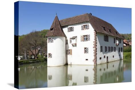Wasserschloss Inzlingen Water Castle, Markgraefler Land, Black Forest, Baden- Wurttemberg, Germany-Markus Lange-Stretched Canvas Print