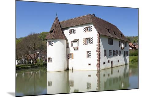Wasserschloss Inzlingen Water Castle, Markgraefler Land, Black Forest, Baden- Wurttemberg, Germany-Markus Lange-Mounted Photographic Print