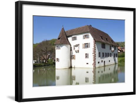 Wasserschloss Inzlingen Water Castle, Markgraefler Land, Black Forest, Baden- Wurttemberg, Germany-Markus Lange-Framed Art Print