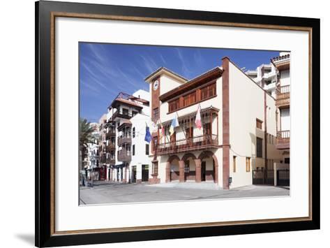 Town Hall at Plaza De Las Americas Square, San Sebastian, La Gomera, Canary Islands, Spain, Europe-Markus Lange-Framed Art Print