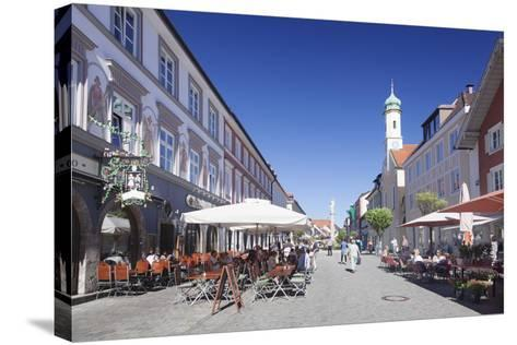 Untermarkt Marketplace, Maria Hilf Church, and Street Cafes-Markus Lange-Stretched Canvas Print