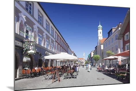 Untermarkt Marketplace, Maria Hilf Church, and Street Cafes-Markus Lange-Mounted Photographic Print