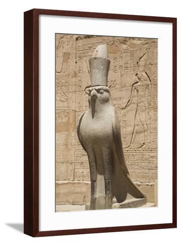 Granite Falcons, Pylon, Temple of Horus, Edfu, Egypt, North Africa, Africa-Richard Maschmeyer-Framed Art Print