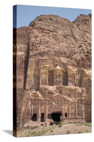 Corinthian Tomb, Royal Tombs, Petra, Jordan, Middle East-Richard Maschmeyer-Stretched Canvas Print