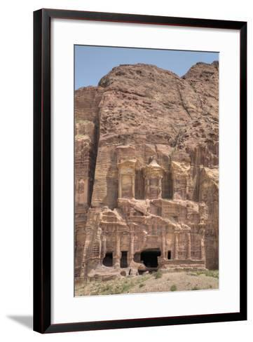 Corinthian Tomb, Royal Tombs, Petra, Jordan, Middle East-Richard Maschmeyer-Framed Art Print