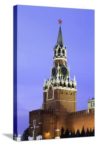 The Kremlin Clocktower in Red Square, Moscow, Russia-Gavin Hellier-Stretched Canvas Print