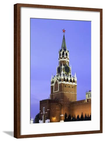 The Kremlin Clocktower in Red Square, Moscow, Russia-Gavin Hellier-Framed Art Print