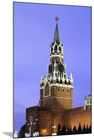 The Kremlin Clocktower in Red Square, Moscow, Russia-Gavin Hellier-Mounted Photographic Print