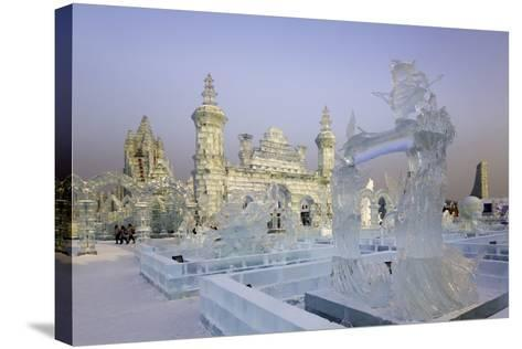 Spectacular Ice Sculptures, Harbin Ice and Snow Festival in Harbin, Heilongjiang Province, China-Gavin Hellier-Stretched Canvas Print