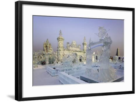 Spectacular Ice Sculptures, Harbin Ice and Snow Festival in Harbin, Heilongjiang Province, China-Gavin Hellier-Framed Art Print