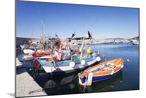 Port of Marciana Marina with Fishing Boats-Markus Lange-Mounted Photographic Print