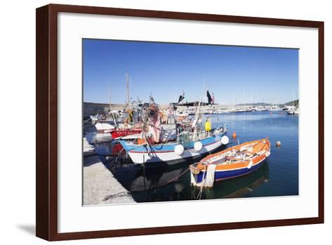 Port of Marciana Marina with Fishing Boats-Markus Lange-Framed Art Print