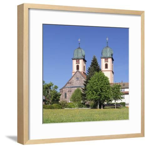 Abbey Chuch, Spring, St. Maergen, Glottertal Valley, Black Forest, Baden Wurttemberg, Germany-Markus Lange-Framed Art Print