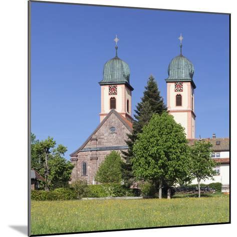 Abbey Chuch, Spring, St. Maergen, Glottertal Valley, Black Forest, Baden Wurttemberg, Germany-Markus Lange-Mounted Photographic Print