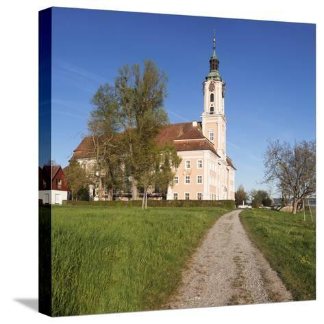 Pilgrimage Church of Birnau Abbey in Spring, Lake Constance, Baden-Wurttemberg, Germany-Markus Lange-Stretched Canvas Print