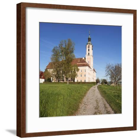 Pilgrimage Church of Birnau Abbey in Spring, Lake Constance, Baden-Wurttemberg, Germany-Markus Lange-Framed Art Print