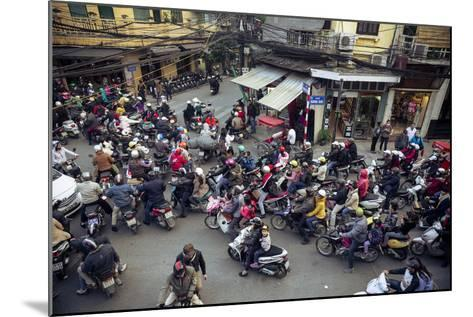 Busy Traffic in the Old Quarter, Hanoi, Vietnam, Indochina, Southeast Asia, Asia-Yadid Levy-Mounted Photographic Print