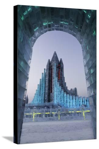 Illuminated Ice Sculpture at the Harbin Ice and Snow Festival in Harbin, Heilongjiang Province, Chi-Gavin Hellier-Stretched Canvas Print