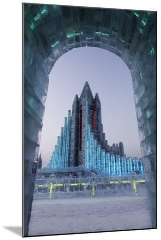 Illuminated Ice Sculpture at the Harbin Ice and Snow Festival in Harbin, Heilongjiang Province, Chi-Gavin Hellier-Mounted Photographic Print