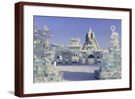 Spectacular Ice Sculptures, Harbin Ice and Snow Festival in Harbin, Heilongjiang Province, China-Gavin Hellier-Framed Art Print