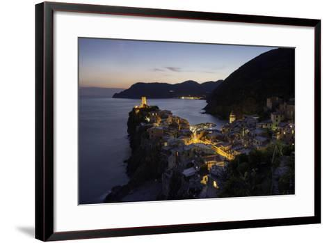 Vernazza in the Evening, Cinque Terre, UNESCO World Heritage Site, Liguria, Italy, Europe-Gavin Hellier-Framed Art Print