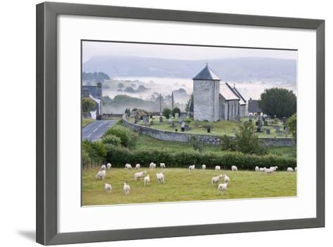 Early Morning Mist in the Valleys Surrounds St. David's Church-Graham Lawrence-Framed Art Print