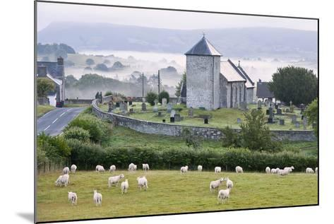 Early Morning Mist in the Valleys Surrounds St. David's Church-Graham Lawrence-Mounted Photographic Print