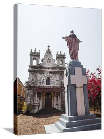Old Portuguese Church in Grounds of Fort Tiracol, Goa, India, Asia-Yadid Levy-Stretched Canvas Print